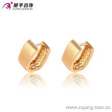Pendiente de aro de joyería chapado en oro simple moda popular - 90856