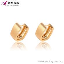 Популярные Мода Простой Позолоченные Ювелирные Изделия Хооп Серьги - 90856
