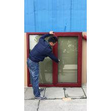CE Certificate Swinging Casement Type Wood Clad Aluminum French Casement Windows