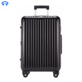 Aluminum frame travel zipper suitcase