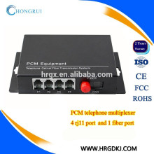4 Channel fiber optic to rj11 media converter