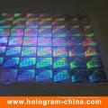 Unsichtbarer fluoreszierender Laser-holographischer Aufkleber der Sicherheits-3D