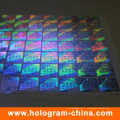 Anti-Fake Security UV 3D autocollant d'hologramme laser
