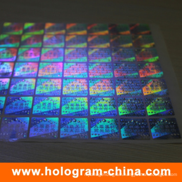 Anti-Fake 3D Laser Security UV Holographic Sticker
