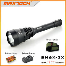 Maxtoch SN6X-2X 1300lm Long Distance Glare Flashlight