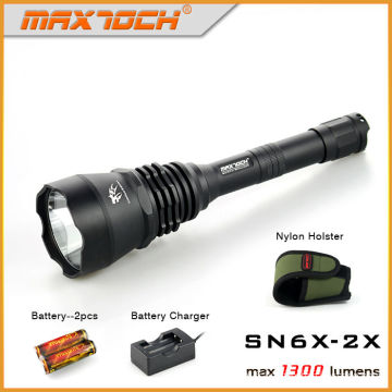 Maxtoch SN6X-2X 1300lm Long Thrower 600 + mètres de haute puissance Led Torch