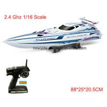 Негабаритных 88см Длина 2.4 ГГц Водонепроницаемый 1/16 масштаб RC Электрический лодки