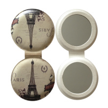Customized Logo Pocket Leather Makeup Mirror