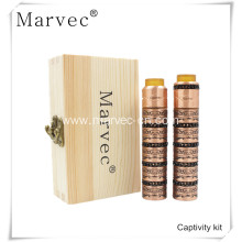 Best Quality for Stab Wood Mod Vape Marvec Captivity copper material electronic cigarette kit export to Japan Supplier