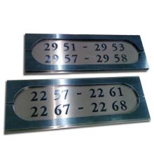 Número de habitación Placa grabada para el hotel