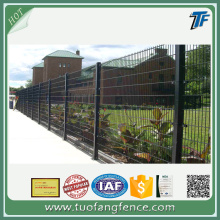 Twin wire panel fencing for play areas