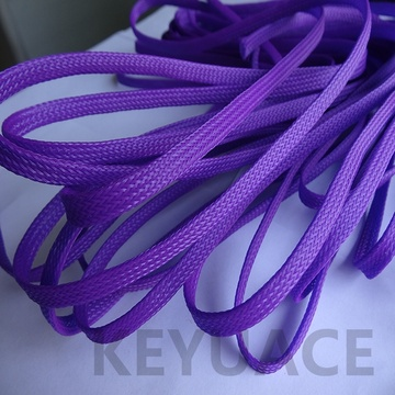 Multi warna PET Braided Expandable Cable Sleeve