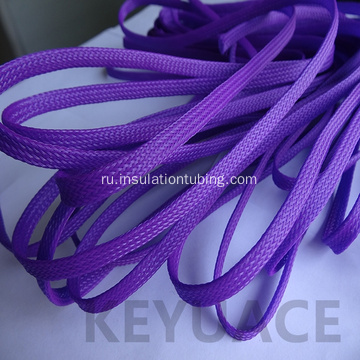 Multi colored PET Braided Expandable Cable Sleeve