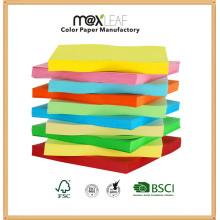 Papel de cópia colorida Impressão de papel de cor com pasta de madeira
