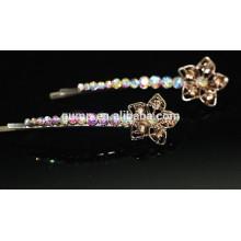 Brillante AB Rhinestone Barrette Colorido cristal Bobby pin