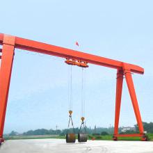 Electric single beam magnetic hanging outdoors gantry crane