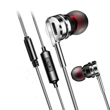 Zinc Alloy HiFi Earphone MP3 Headset With Mic