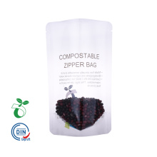 Compostable Zipper Food Packaging Bag com janela