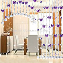Derniers rideaux de perles en cristal de décoration de mariage pour fenêtres