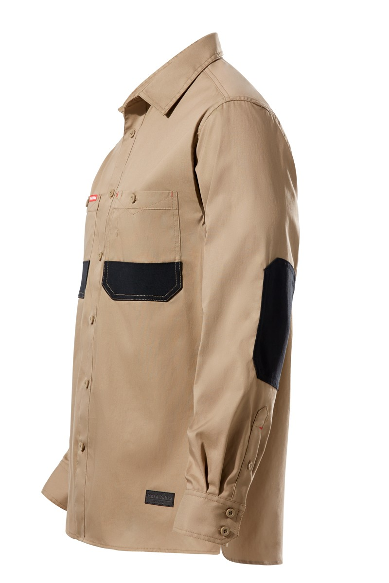 Wearproof Long Sleeve Khaki Coat