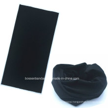 Custom Made Black One Color Dyed Polyester Multifunctional Tube Bandanna