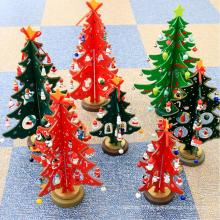 Jouet en bois de décoration de Noël environnemental pour le cadeau de Noël d'enfants