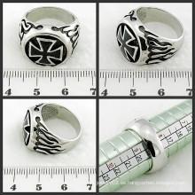 Anillo de acero inoxidable anillo de la cruz de la joyería de la manera