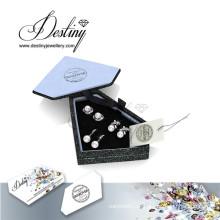 Establece destino joyería moda cristal de pendientes de perlas de Swarovski