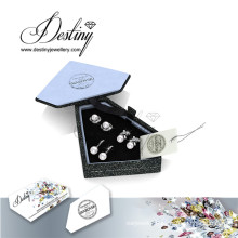 Destiny Jewellery Fashion Crystal From Swarovski Pearl Earrings Set