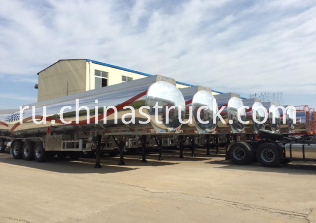 DOT Aluminum Road Fuel Tanker Trailer