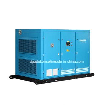 Compresor de aire rotatorio lubricado con aceite de dos etapas impulsado por electricidad (KF185-10II)