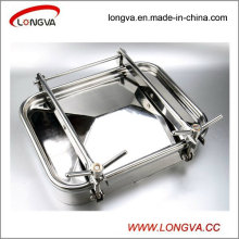 Sanitary Stainless Steel Rectangular Manhole Door