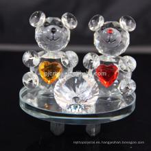 Animales de cristal elegante oso de peluche de cristal