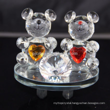 Elegant crystal animals crystal teddy bear