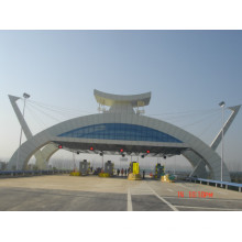 Prefab Estructura de acero Estación de peaje Puerta de techo