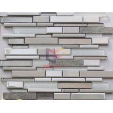 Strip Ceramic Mix Marble and Glass American Style Mosaic (CFS646)
