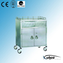 Stainless Steel Hospital Medical Anaesthetic Trolley (Q-31)