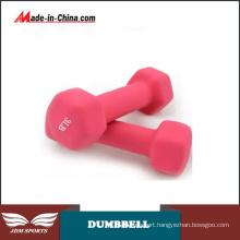 Women Household Fitness Equipment Colorful Plastic Dipping Dumbbell