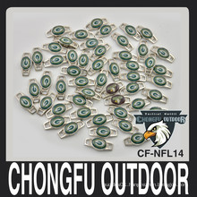 Green Bay Packers shoelace charms custom pvc