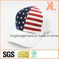 100% Cotton Drill USA American Flag White Baseball Cap
