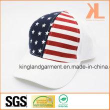 Perceuse 100% coton USA American Flag White Baseball Cap
