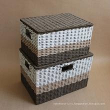 (BC-RB1017) Прочная лакированная корзина для бумаг