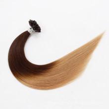 Punta al por mayor de la queratina U de Italia / punta plana / extensión del pelo de la extremidad del palillo