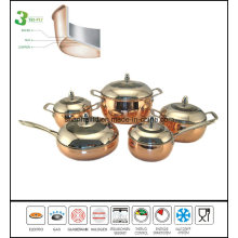 Copper Clad Apple Shape Cookware Set
