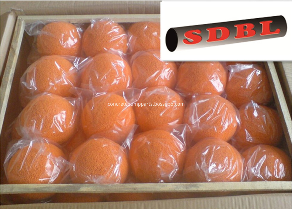 concrete pump cleaning ball package