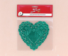 6 inch tim hình dạng màu xanh lá cây lá vải lau tay