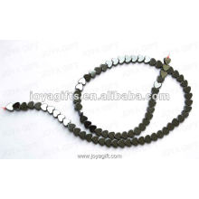 6MM Loose Magnetic Hematite Heart Beads 16""