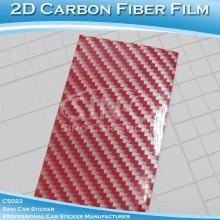 2D parlak Sticker Karbon Fiber araba vücut Film ücretsiz kargo