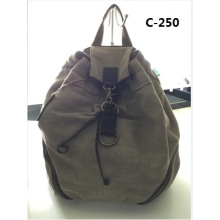 Guangzhou Suppliers Designer Sailcloth Canvas Backpack Bag (C-250)