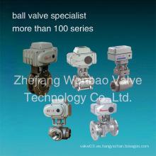Válvula de bola accionada eléctrica del acero inoxidable CF8m 1000wog
